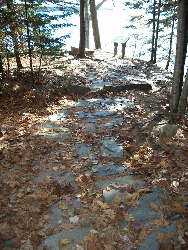 wolfes neck woods state park maine trail finder